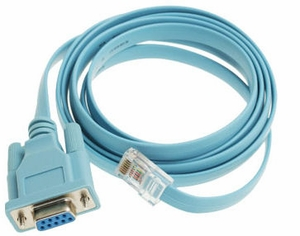 6 Foot Cisco Console Cable DB9 Female to RJ45 Male (72-3383-01) - Click to enlarge