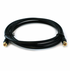6 Foot Premium 18AWG RG6 CL2 (In-Wall) Quad Shield Gold Plated Coax Cable - Black