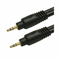 6 Foot Premium Shielded 22AWG 3.5mm Stereo Male / Male Gold Plated Audio Cable
