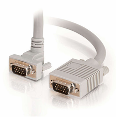6 Foot Premium Shielded HD15 SXGA M/M Monitor Cable with 90° Upward-Angled Male Connector