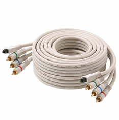6 Foot Python™ Component Video Cables with Toslink Digital Optical Cable