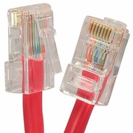 6 Inch Cat5E UTP Ethernet Network Non Booted Cable Red - Ships from California