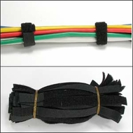 6 Inch Velcro Cable Ties - Black - Pack of 50 Pieces