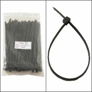 8 Inch Black Nylon Cable Ties - 100 Pack