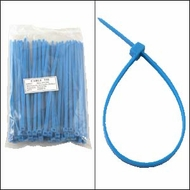 8 Inch Blue Nylon Cable Ties - 100 Pack
