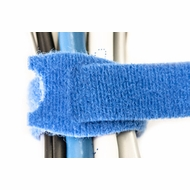 8 Inch Hook and Loop Cable Ties - 10 Pack - Blue