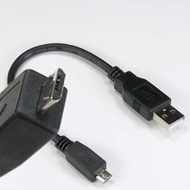 8 inch USB 2.0 Type A Male to Micro USB Male Cable