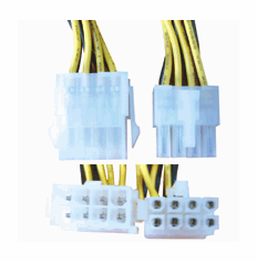 8 Pin Male / Female Power Extension Cable (2x4)
