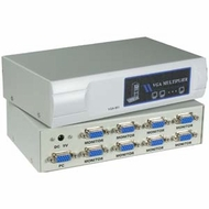 8 Way VGA Multiplier / Splitter / Amplifier, 450mhz, 2048x1536