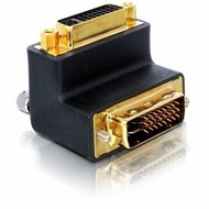 90 degree angled DVI 24+5 Male/Female Adapter
