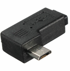 90 Degree Left Angle Micro USB Adapter