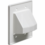 Arlington CE2 The Scoop cable entry cover plate, dual gang, White