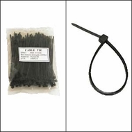 "Bag of 100 4"" Black Cable Ties"