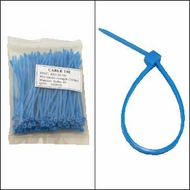 """Bag of 100 4"""" Blue Cable Ties"""