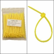 "Bag of 100 4"" Yellow Cable Ties"