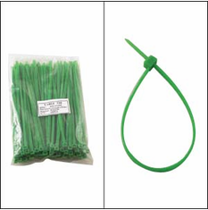"""Bag of 100 6"""" Green Cable Ties"""