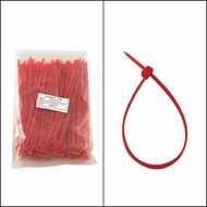 """Bag of 100 6"""" Red Cable Ties"""