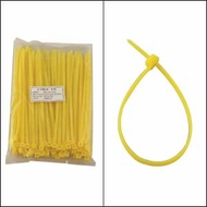 """Bag of 100 6"""" Yellow Cable Ties"""