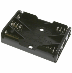 Battery Holder / Open Type for 3 AAA Battery with 6 inch 24AWG Lead (Side By Side)