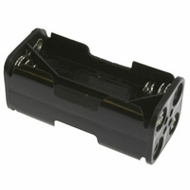 Battery Holder / Open Type for 4 AAA Battery with 6 inch 24AWG Lead (End to End)