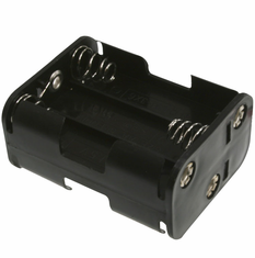 Battery Holder / Open Type for 6 AA Battery with 6 inch 24AWG Lead (End to End)