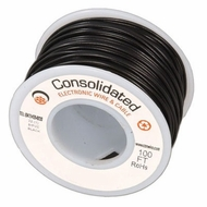Black 25 Foot 26 AWG stranded hook-up wire