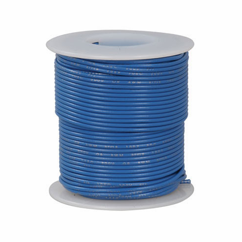 Hook Up Wire   Blue 100 Foot 18 Awg Stranded Hook Up Wire