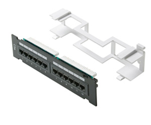 Cat5e 110 Type Patch Panel 12 Port Vertical w/Bracket - Click to enlarge