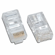 Network Ethernet Cable Modular Plug for Solid wire 25 Pack