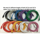 Cat5e Molded Booted Ethernet Network Patch Cables