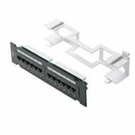Cat6 110 Type Patch Panel 12 Port Vertical w/Bracket