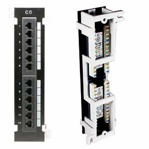Cat6 110 Type Patch Panel 12 Port Vertical W Bracket
