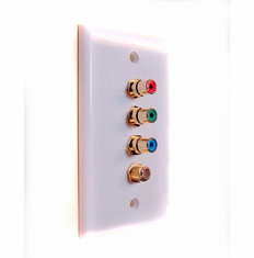 Component Video (RGB) Wall Plate with Coaxial F Connector