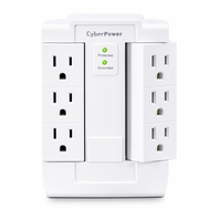 CyberPower CSB600WS Essential 6 Outlet Surge Suppressor Wall Tap and Swivel Outputs