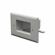 DataComm Easy Mount Recessed Low Voltage Cable Wall Plate, Slim Fit - Light Almond