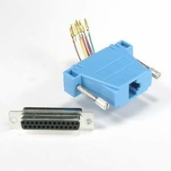 DB25 Female to RJ45 Modular Adapter - Blue