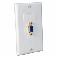 Decora Style VGA Wall Plate with Gold Plated Female/Female Connector