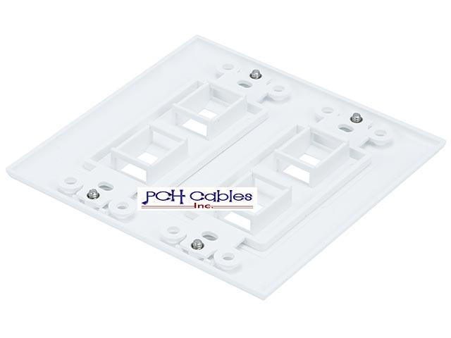 double gang 4 port keystone wall plate
