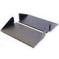 "Double Sided 200lb Rack Mount Shelf, 19"" Wide, 20"" Deep"