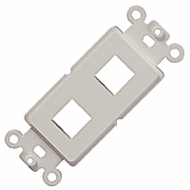 Dual Port Decora Insert for Keystone Jacks