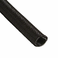 "F6 PET 1/2"" Black Woven Wrap - Priced per foot"