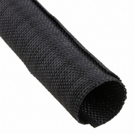 "F6 PET 1"" Black Woven Wrap - Priced per foot"