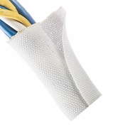 "F6 PET 1"" White Woven Wrap - Priced per foot"