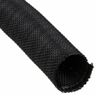 "F6 PET 3/4"" Black Woven Wrap - Priced per foot"