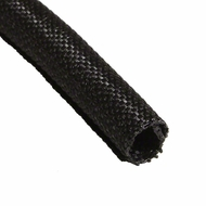 "F6 PET 3/8"" Black Woven Wrap - Priced per foot"
