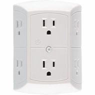 GE 6 Outlet In-Wall Adapter