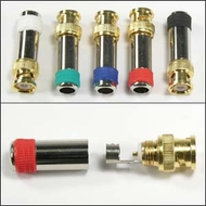 Gold Plated BNC Male Metal Plugs with Colored Stripe for RG59