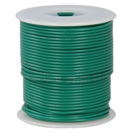Green 100 Foot 24 AWG stranded hook-up wire
