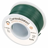 Green 25 Foot 22 AWG stranded hook-up wire