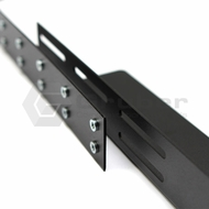 "Gruber 34-102100 19"", 23"", 30"" Rack Mount Adjustable Rails - Black"